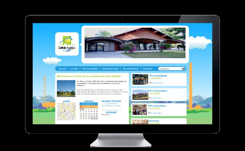 REZO 21 livre le site Internet de la Ville de Lacq-Audéjos