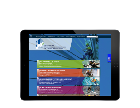 L'agence web REZO 21 d'Anglet développe le nouveau site du Syndicat Français des Entreprises de Travail en Hauteur