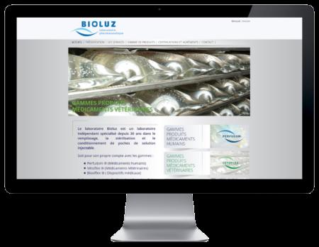Les laboratoires Bioluz de Saint jean de luz choisissent l'agence web REZO 21 d'Anglet pour la conception de leur site Internet multilingue, vue sur grand écran