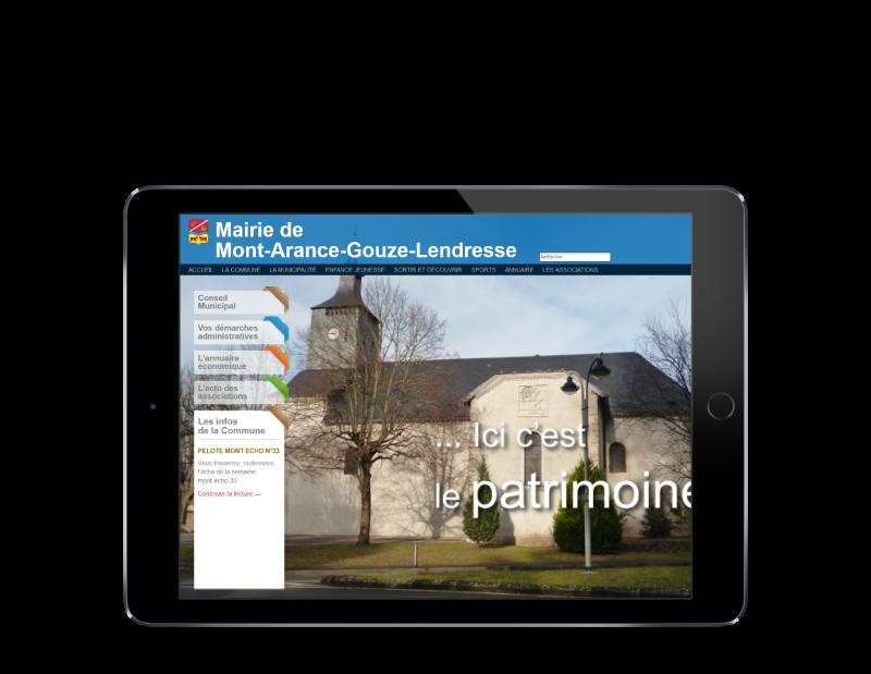 La mairie de Mont sélectionne l'agence web REZO 21 pour créer son site Internet, vue sur tablette