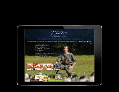 Famille Dumecq, élevage de canard confie la conception de sa boutique en ligne à l'agence web REZO 21 Anglet