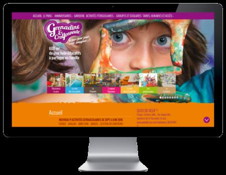 Le parc Grenadine et Crayonnade Bayonne choisit l'agence web REZO 21 pour créer son site Internet sur grand écran