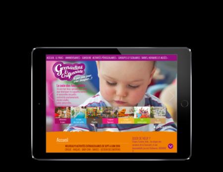 Le parc Grenadine et Crayonnade Bayonne choisit l'agence web REZO 21 pour créer son site Internet sur tablette
