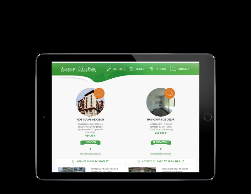 L'agence du parc Anglet confie la refonte de son site Internet à l'agence web REZO 21