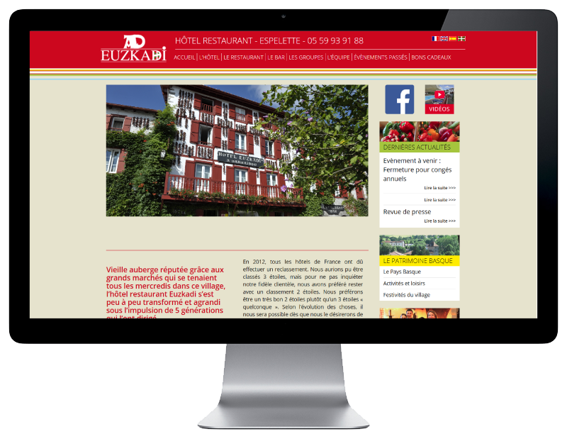 Nouvelle r f rence en cr ation de sites internet pour les for Les sites des hotels