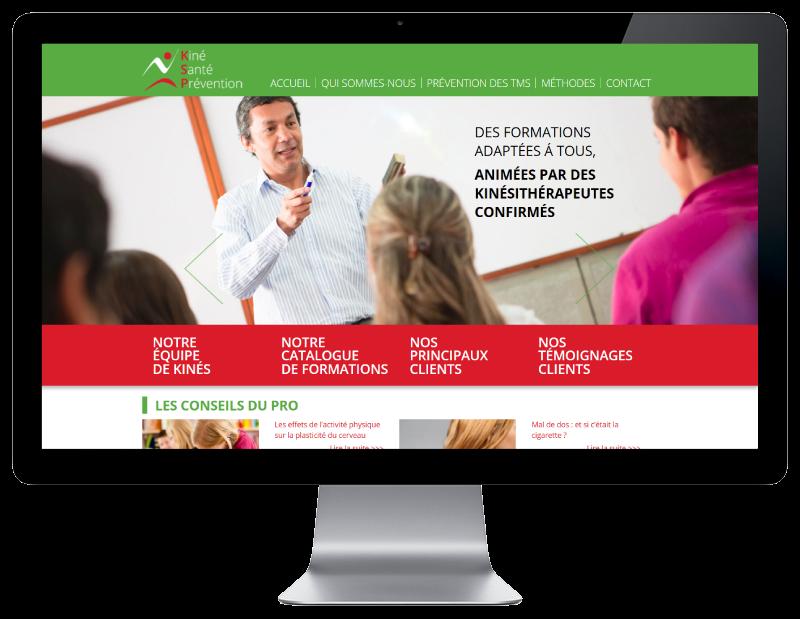 Le centre de formation KSP choisit l'agence web REZO 21 d'Anglet pour la création de son site Internet, vue sur grand écran