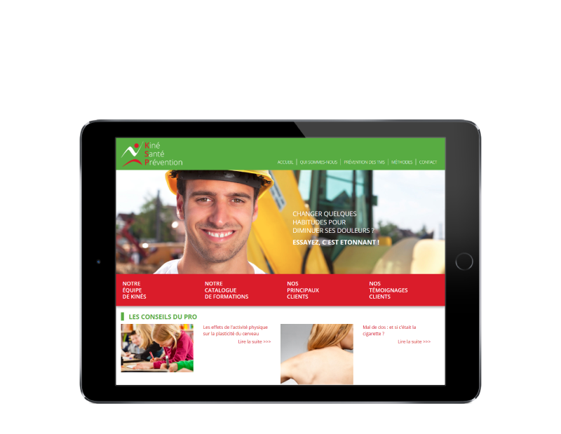 Le centre de formation KSP choisit l'agence web REZO 21 d'Anglet pour la création de son site Internet, vue sur tablette