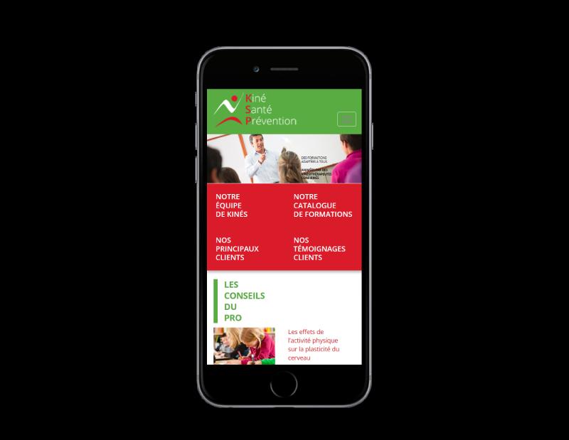 Le centre de formation KSP choisit l'agence web REZO 21 d'Anglet pour la création de son site Internet, vue sur mobile