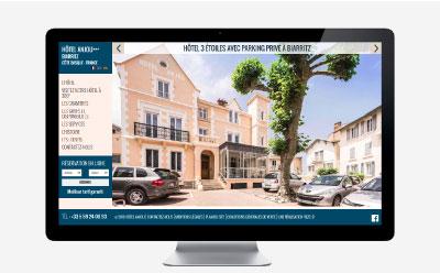 L'hôtel Anjou *** à Biarritz confie la refonte de son site internet à l'agence REZO 21