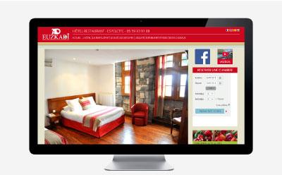 L'Hôtel restaurant Euzkadi à Espelette change l'identité de son site Internet