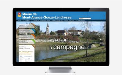 Mairie de Mont Arance Gouze Lendresse, une autre vision du site Internet de mairie