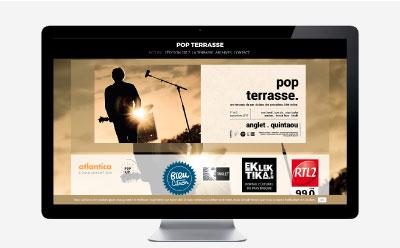 Le concert Pop Terrasse #1 Anglet lance son site Internet avec l'agence Rezo 21