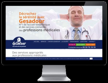 Gesadour choisit l'agence web REZO 21 pour développer son site Internet, vue sur grand écran