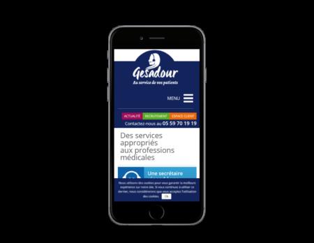 Gesadour choisit l'agence web REZO 21 pour développer son site Internet, vue sur mobile