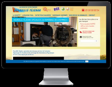 L'agence web REZO 21 Anglet réalise le nouveau site Internet d'Hourdillé-Téjédor, vue sur grand écran