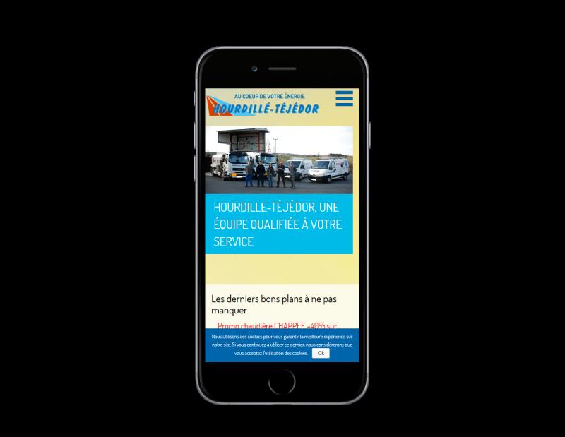 L'agence web REZO 21 Anglet réalise le nouveau site Internet d'Hourdillé-Téjédor, vue sur mobile