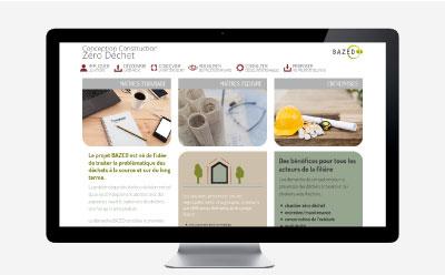 Le projet BAZED, Bâtiment Zéro Déchet a maintenant son site Internet