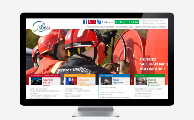L'agence web REZO 21 livre le site Internet du SDIS 64