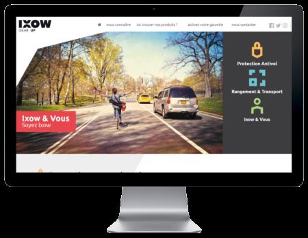 REZO 21, agence de création de sites Internet au Pays basque, réalise le site de IXOM, pièves détachées pour les vélos, vue sur grand écran