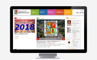 La commune de Briscous renouvelle son site Internet avec l'agence web REZO 21