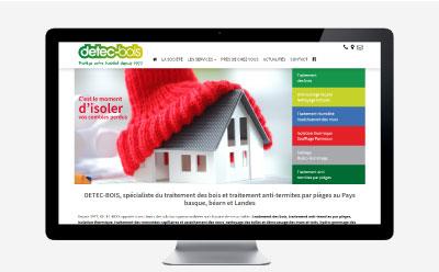 DETEC-BOIS passe au responsive design avec l'agence web REZO 21