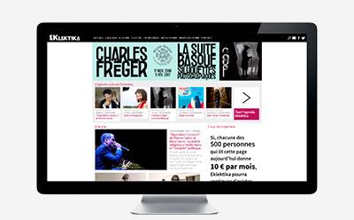 Une nouvelle version pour Eklektika à l'occasion de la 500.000ème page vues