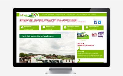 Les autocars Hiruak Bat rénove leur site Internet