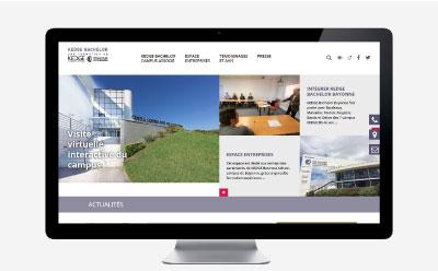 Le campus Kedge Bachelor de Bayonne renouvelle son site Internet avec l'agence web REZO 21