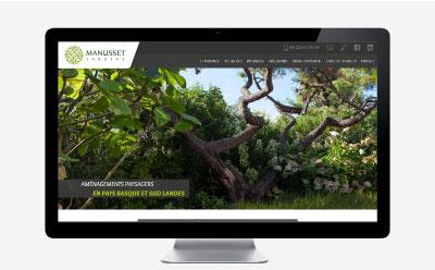 Manusset Jardins, aménagements paysagers au Pays basque depuis 40 ans crée son premier site Internet avec l'agence web REZO 21