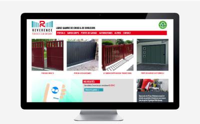Révérence, entreprise spécialisée dans la fabrication de portails sur mesure en aluminium passe son site Internet en responsive mobile avec l'agence web REZO 21 Anglet