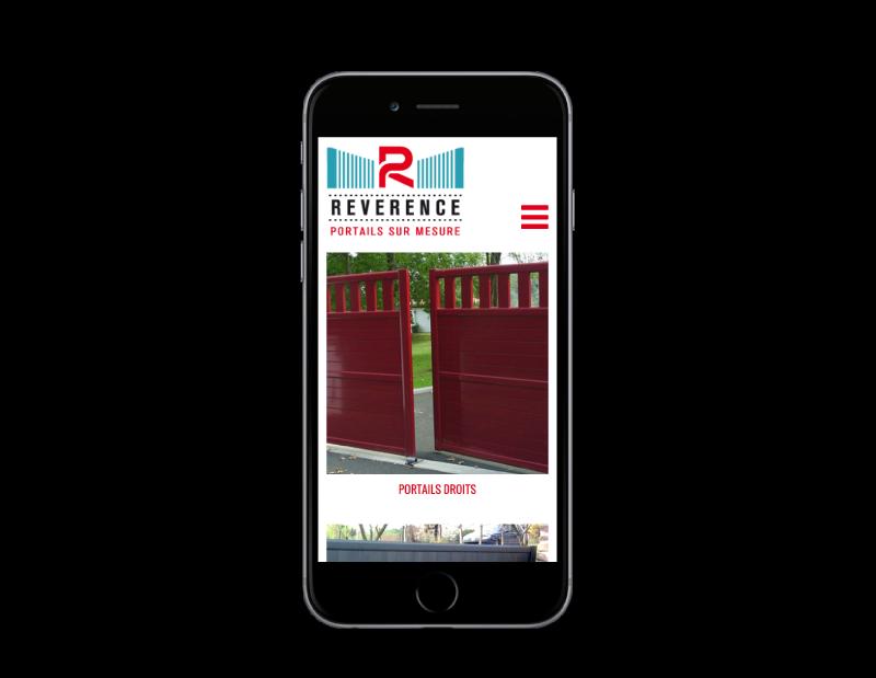 REZO 21, créateur de sites Internet au Pays basque développe le site de Révérence, portails et garde-corps alu à Anglet, sur mobile