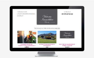 Un nouveau site Internet Responsive Mobile pour Victoria Immobilier Biarritz