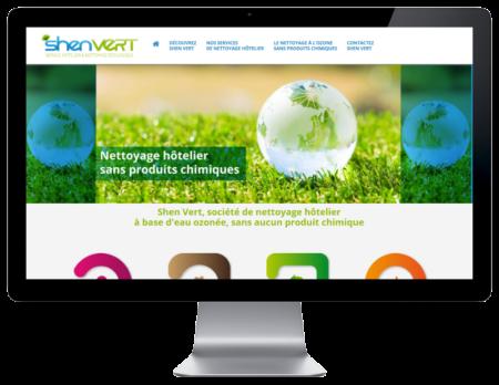 REZO 21, création de sites Internet au Pays Basque développe le site web de SHEN VERT sur grand écran