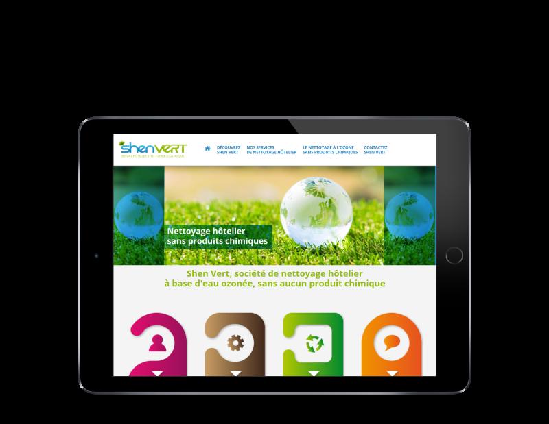 REZO 21, création de sites Internet au Pays Basque développe le site web de SHEN VERT sur tablette