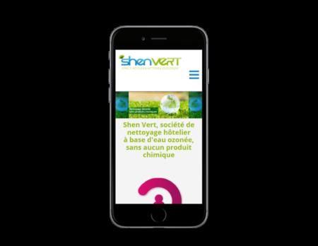 REZO 21, création de sites Internet au Pays Basque développe le site web de SHEN VERT sur mobile