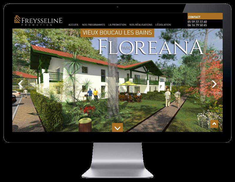 Freysseline Promotion lance son nouveau site Internet à l'occasion du lancement commercial du programme Floréana à Vieux Boucau les bains