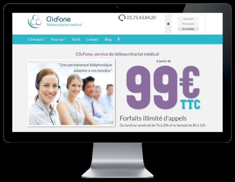 Clicfone, télésecrétariat médical confie la refonte de son site Internet à REZO 21