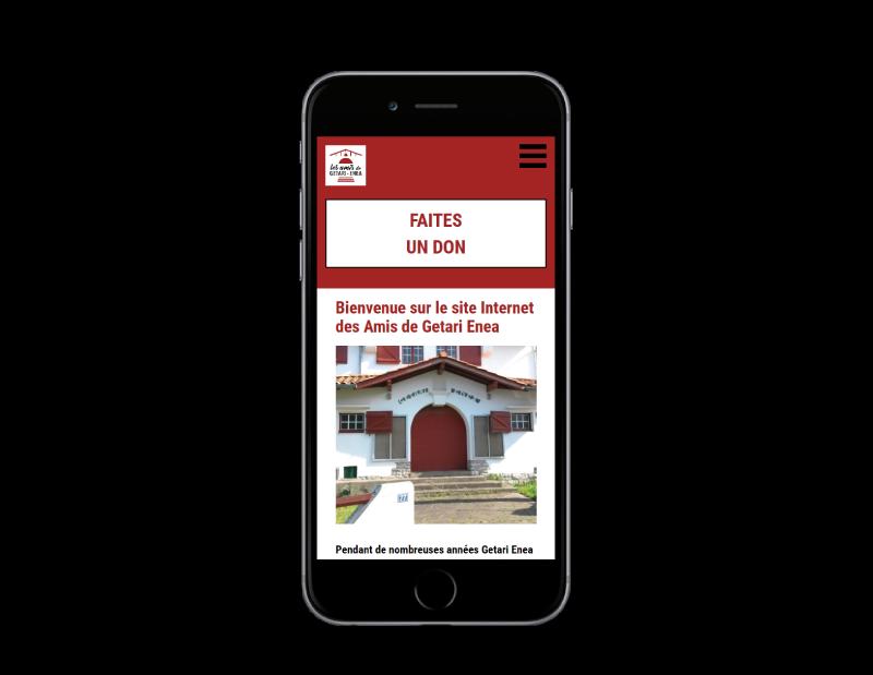 REZO 21, créateur de sites Internet à Anglet réalise le site de Getari-Enea sur mobile