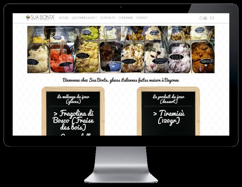 L'agence web REZO 21 créé la boutique en ligne Sua Bonta Bayonne sur grand écran