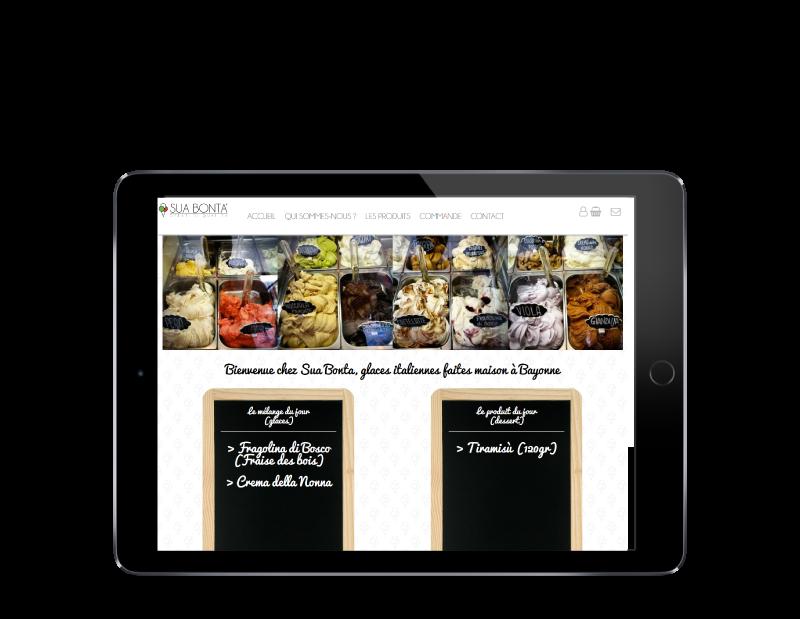 L'agence web REZO 21 créé la boutique en ligne Sua Bonta Bayonne sur tablette