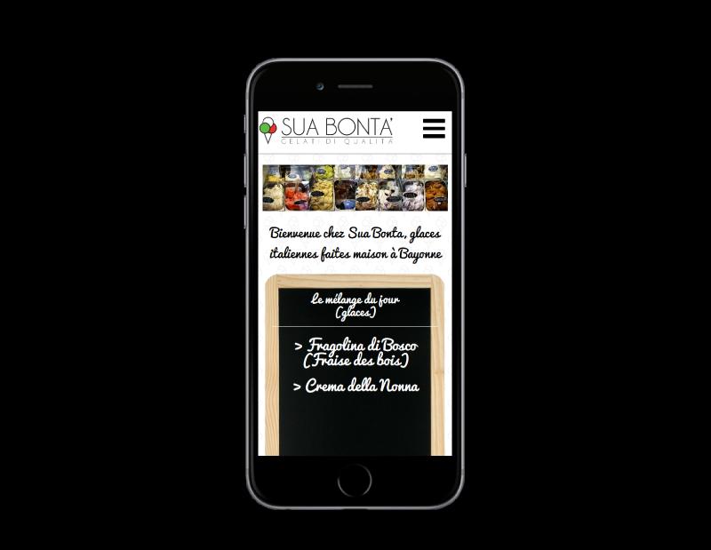 L'agence web REZO 21 créé la boutique en ligne Sua Bonta Bayonne sur mobile