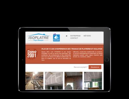 L'agence web REZO 21 créé le site Internet Isoplatre Pays Basque sur tablette