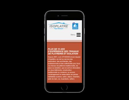 L'agence web REZO 21 créé le site Internet Isoplatre Pays Basque sur mobile