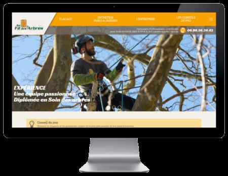 Création de sites Internet à Bayonne Pays basque Au fil des arbres sur grand écran