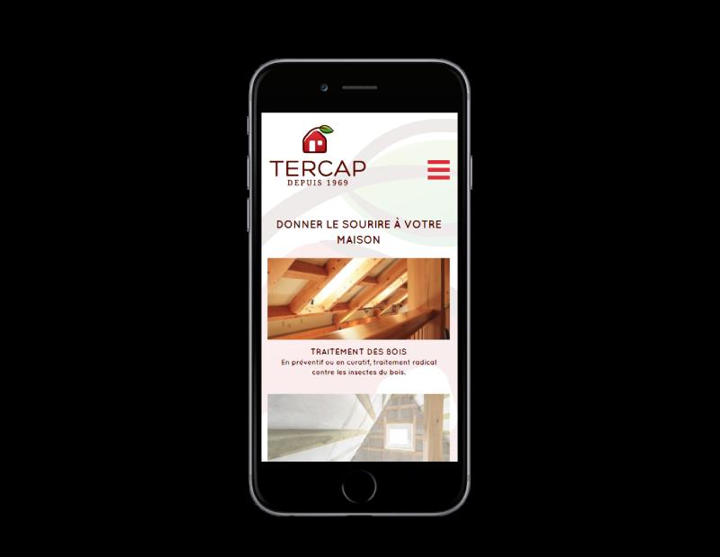 l'agence web REZO 21 Anglet création du site internet de TERCAP sur mobile