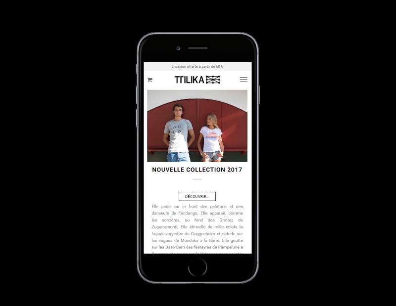 Site Internet TTILIKA réalisé par l'agence web rezo 21 vue sur mobile