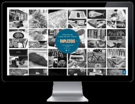 Site Internet Duplessis Bayonne réalisé par l'agence web rezo 21 vue sur grand écran