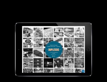 Site Internet Duplessis Bayonne réalisé par l'agence web rezo 21 vue sur tablette
