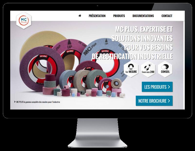 MC PLUS, solutions industrielles de rectification confie son site Internet à l'agence web REZO 21 Anglet vue sur grand écran