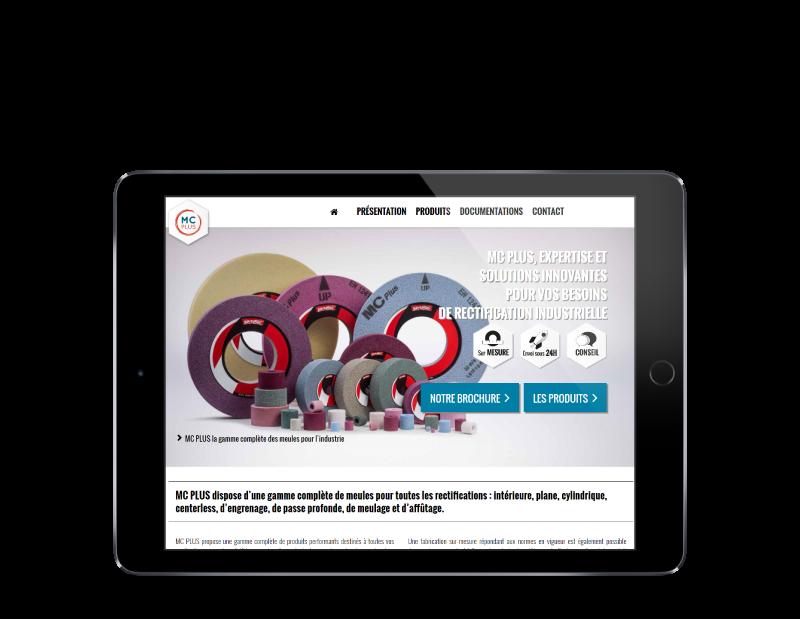MC PLUS, solutions industrielles de rectification confie son site Internet à l'agence web REZO 21 Anglet vue sur tablette